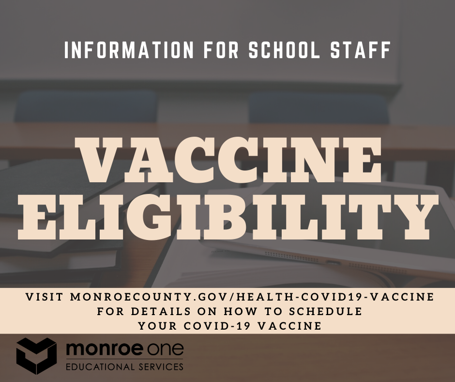 desk with words vaccine eligibility over it